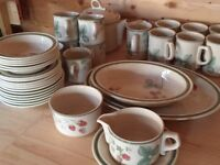 Raspberry Cane Wedgwood Set (44 piece set), all pieces in perfect condition.