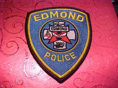EDMOND OKLAHOMA POLICE PATCH SHOULDER SIZE UNUSED