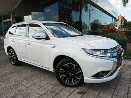 2018 Mitsubishi Outlander ZK MY18 PHEV AWD LS White 1 Speed Automatic Wagon Hybrid Springwood Logan Area Preview