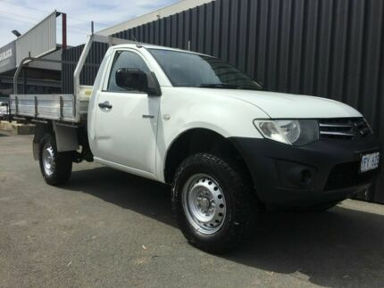 2009 Mitsubishi Triton MN MY10 GL White 5 Speed Manual Cab Chassis Phillip Woden Valley Preview
