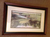 Terry Harrison Signed Golf Print & Frame