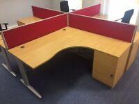 Free !!!!!!! 2 x Corner desks with integrated pedestal
