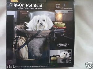 Pet Gear Clip On High Chair For Dogs Or Cats Brown & Tan Up To 12 lbs.  New