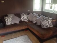 USED great condition large left hand corner sofa