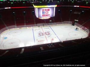 2 billets Canadiens Montreal vs Canucks Vancouver 303 row A