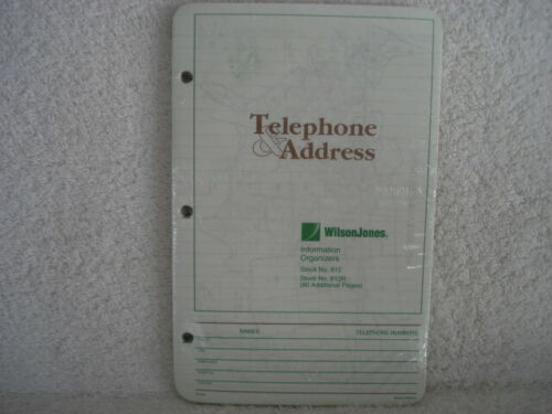 Organizer Refill Wilson Jones Telephone Address NEW  Item number 812