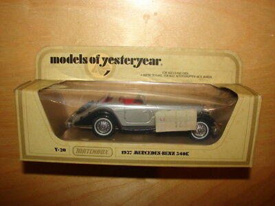 Matchbox Lesney Models of Yesteryear Y20 1937 Mercedes-Benz 540K  Mint in Box, used for sale  Shipping to South Africa