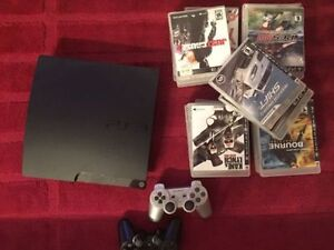 PlayStation 3 + 2 controllers + 18 games