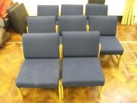 8 Reception Chairs . Blue colour . £15 for the set