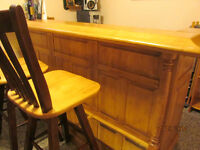 White Birch Bar & 4 Stools