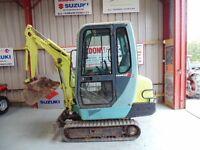 Yanmar B15-3 1.6 Ton mini excavator, 2004