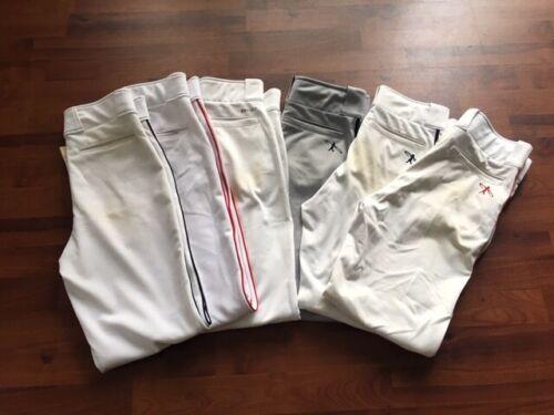 Lot (6) Baseball Pants Youth XL Various Brands