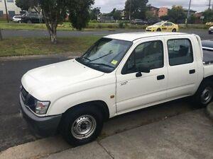2002 Toyota Hilux LN147R (4x4) White 5 Speed Manual Dual Cab Pick-up Melbourne CBD Melbourne City Preview
