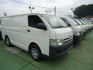 2008 Toyota Hiace KDH201R MY07 Upgrade LWB White 4 Speed Automatic Van Canada Bay Canada Bay Area Preview