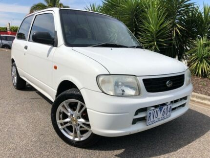 2002 Daihatsu Cuore White 3 Speed Automatic Hatchback Hoppers Crossing Wyndham Area Preview