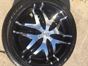 "Forte Nokturnal Black 22"" -Rims Kitchener / Waterloo Kitchener Area image 1"