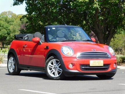 2010 Mini Cabrio R57 LCI Cooper Steptronic Red 6 Speed Sports Automatic Convertible Enfield Port Adelaide Area Preview