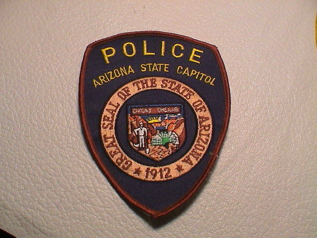 ARIZONA STATE CAPITOL POLICE OFFICER TROOPER LAW ENFORCEMENT SINCE 1912 PATCH