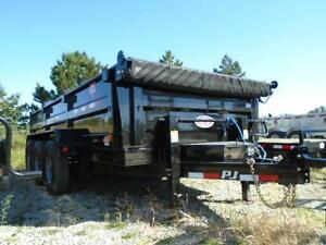 PJ TRIPLE AXLE DUMP TRAILER 21,000LB 7 X 16' BED YOUR BEST PRICE London Ontario image 2