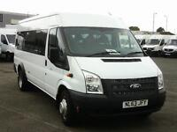 Ford Transit T430 LWB 135PS 17 Seater Minibus DIESEL MANUAL WHITE (2013)