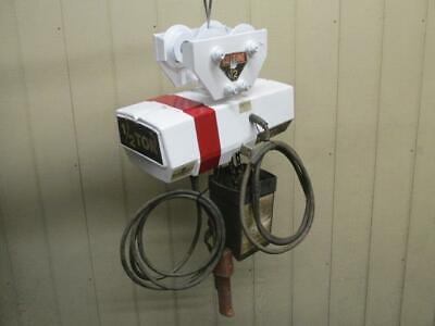 Coffing Ec1016-3 Electric Chain Hoist Wtrolley 12 Ton 1000 Lbs 3 Ph 230460v