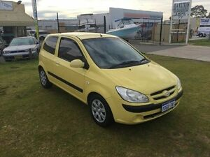 2006 Hyundai Getz TB MY06 FULL BOOKS Yellow 5 Speed Manual Coupe Wangara Wanneroo Area Preview