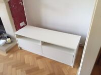 IKEA TV media cabinet unit with two drawers - excellent condition