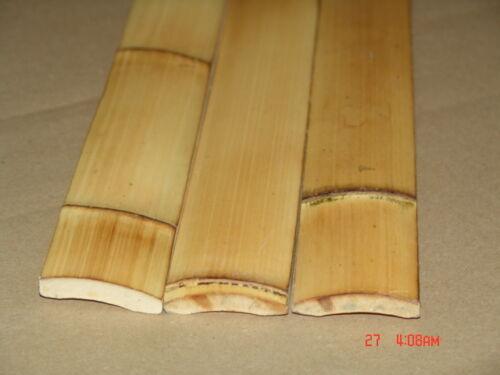 25 - 6 ft Carbonized Bamboo Flat Plank Slats Wall  Tiki Bar Roof