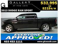 2013 DODGE RAM SPORT CREW **EVERYONE APPROVED** $0 DOWN $219/BW!