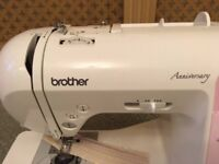 Brother Innovis 10 Sewing Machine with: free motion foot, invisible foot, button hole attachment
