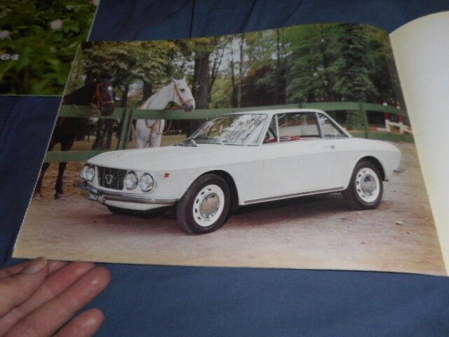 1966 Lancia Fulvia Coupe large Prestige Color Brochure Catalog Prospekt