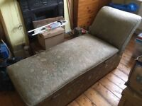 Old chaise longue/sofa with storage