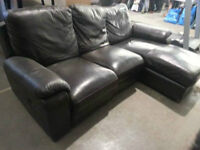 Brown leather SECTIONAL SOFA WITH RECLINER!READ!