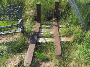 TRACTOR FORKS SOLID  STEEL WITH FRAME.
