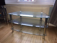 Clear Glass TV Stand - for up to 40inch TVs