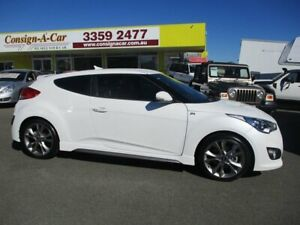 2015 Hyundai Veloster FS4 Series II SR Coupe D-CT Turbo White 7 Speed Sports Automatic Dual Clutch Kedron Brisbane North East Preview