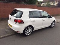 VW GOLF GT 2.0 TDi Mk6 ,WHITE, DSG AUTO, SAT NAV, 5 Door