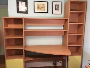 Practical, Affordable, Stylish Desk with Integrated Shelving