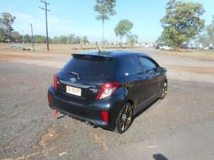 2012 Toyota Yaris NCP131R ZR Black 5 Speed Manual Hatchback