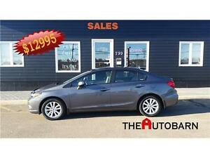 2012 Honda Civic EX - 5Speed - CRUISE - MOONROOF - ONLY 71343KM