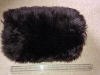 Beautiful 100% sheepskin Muff- hand warmer