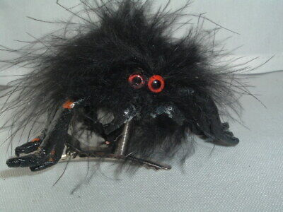 SPIDER SPRING HAIR CLIP BARRETTE HAIR UP DO ACCESSORY  (Fuzzy-spider)