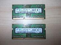 8gb ddr3 laptop ram 2x4gb sticks,no texts plz.
