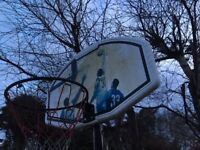 Basketball net and stand (adjustable height)