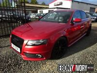 Audi A4 2.0 TDI 136 S line 4dr [Start Stop] (red) 2011