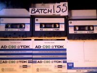3x VINTAGE TDK AD 90 USED CASSETTE TAPES (1979 JAPAN). ALL TESTED & IN VERY GOOD CONDITION.