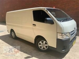 2017 Toyota HiAce KDH201R LWB White 4 Speed Automatic Van Campbelltown Campbelltown Area Preview