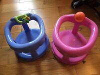 Baby bath seats