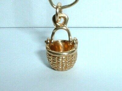 - 14K YELLOW GOLD 3D MOVEABLE CAPE COD NANTUCKET BASKET GLENAAN CHARM