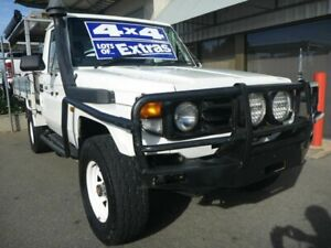 2003 Toyota Landcruiser HZJ79R White 5 Speed Manual Cab Chassis Edwardstown Marion Area Preview